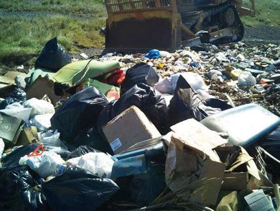 Moloka'i landfill in Feb 2019